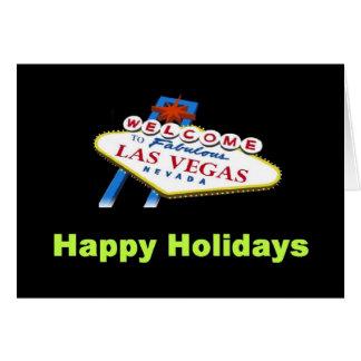 Carte heureuse de vacances de Las Vegas