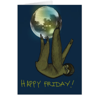 Carte heureuse de vendredi