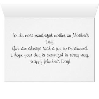 Carte heureuse du jour de mère - printemps dans le