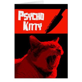 Carte heureuse psychopathe de Kitty Halloween