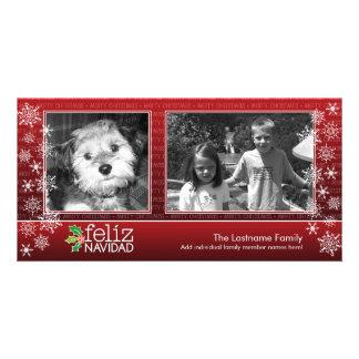 Carte Heureux Noël - collage de 2 photos