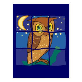 Carte-Hibou dans la fenêtre Cartes Postales