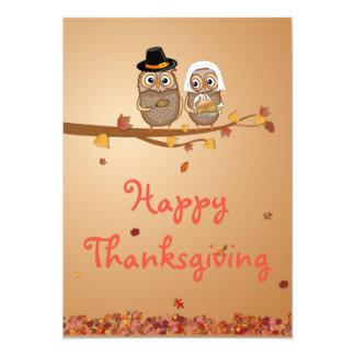 Carte Hiboux lunatiques de thanksgiving