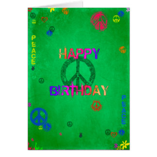 Carte hippie de joyeux anniversaire