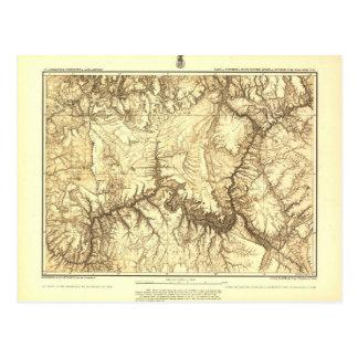 Carte historique de canyon grand - archives