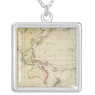 Carte historique de diagramme général pendentif carré