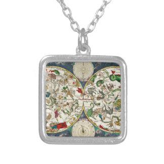 Carte historique de zodiaque, 1670 pendentif carré