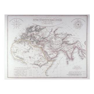 Carte historique du monde connu
