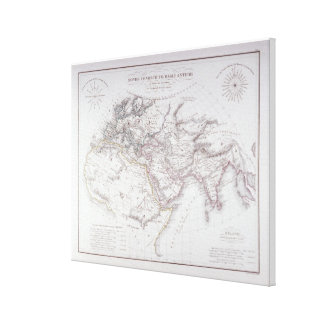 Carte historique du monde connu toiles