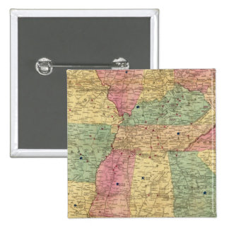 Carte historique et militaire des USA Badge Carré 5 Cm