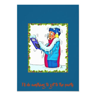 Carte Homme de congélation drôle dans le bleu