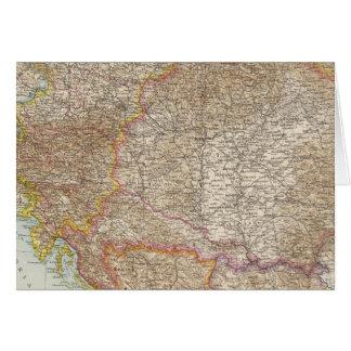 Carte hongroise d'empire de l'Autriche