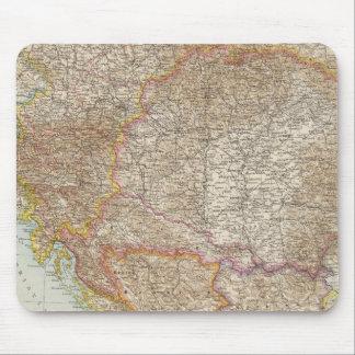 Carte hongroise d'empire de l'Autriche Tapis De Souris