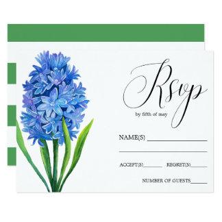 Carte Hortensia bleu RSVP l'épousant rustique de fleur à