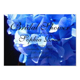 Carte Hortensia de bleu de cobalt