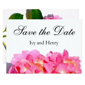 Carte Hortensia rose