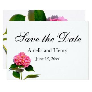 Carte Hortensia rose - faites gagner la date