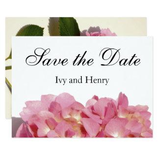 Carte Hortensia rose poussiéreux