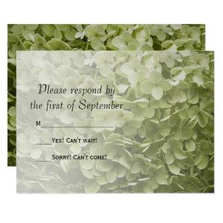 Carte Hortensia vert RSVP l'épousant floral