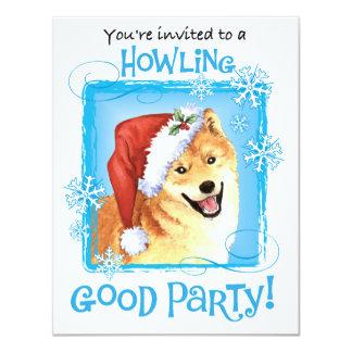 Carte Howlidays heureux Shiba Inu