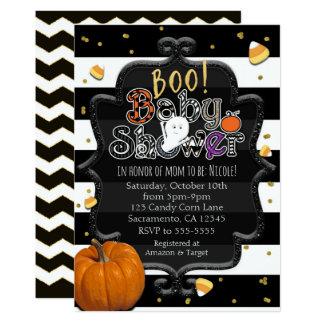 Carte HUEZ ! Fantôme Halloween lunatique de baby shower