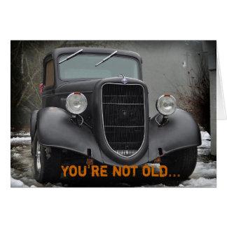 Carte humoristique d'amitié de camion vintage