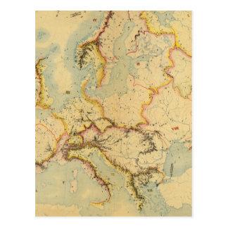 Carte hydrographique de l'Europe