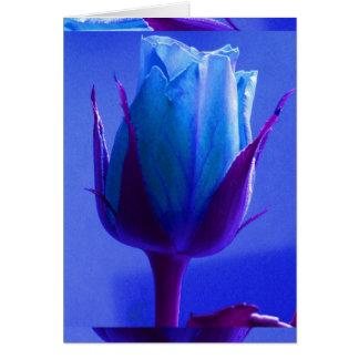 Carte I de plaisir de rose de bleu -