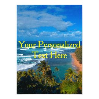 Carte Île tropicale hawaïenne