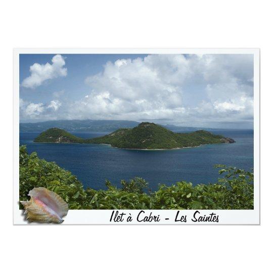 Carte Ilet à  cabri- Les Saintes- Guadeloupes