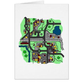 Carte illustrative de ville