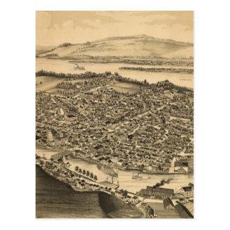 Carte imagée vintage de Catskill New York (1889)