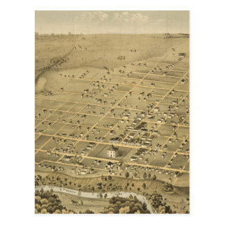 Carte imagée vintage de Fort Worth le Texas (1876)