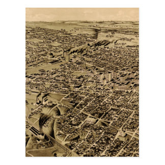 Carte imagée vintage de Fort Worth TX (1891)