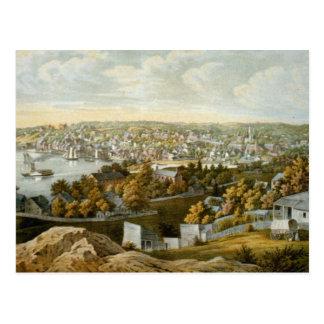 Carte imagée vintage de Georgetown (1855)