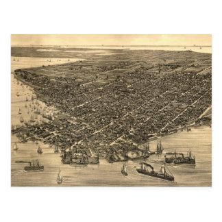 Carte imagée vintage de Key West FL (1884)