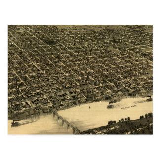 Carte imagée vintage de Little Rock (1887)