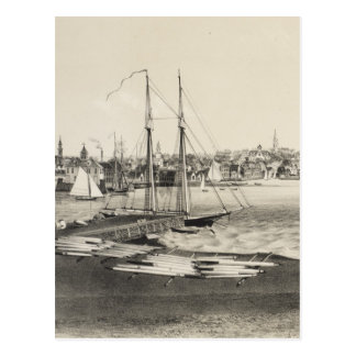 Carte imagée vintage de Newport RI (1860)