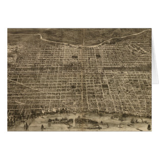 Carte imagée vintage de Philadelphie (1872)