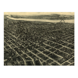 Carte imagée vintage de Tulsa (1918)