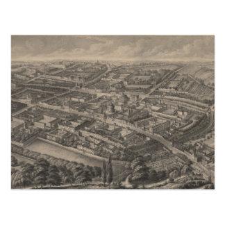 Carte imagée vintage d'Oxford Angleterre (1850)
