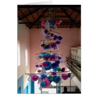 Carte indienne d'arbre de Noël