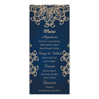 Carte indienne de menu de mariage de style de double cartes customisées