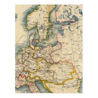 Carte industrielle de Commerciale de l'Europe