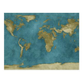 Carte inondée du monde