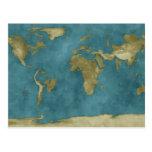 Carte inondée du monde cartes postales