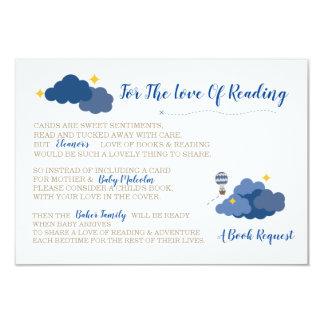 Carte Insertion d'invitation de baby shower - l'aventure