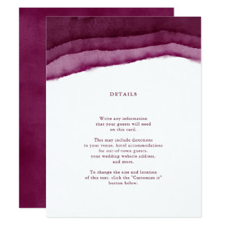 Carte Insertion/directions de mariage d'aquarelle de