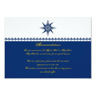 Carte Insertion nautique de mariage de jaune de marine
