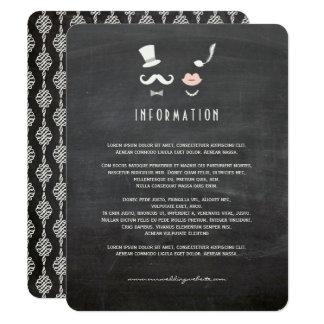 Carte Insertion vintage de moustache de tableau et de